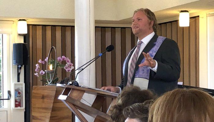 Rev. Marcus Hartlief speaking